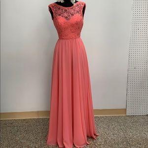 Mori Lee coral formal dress. Size 4.